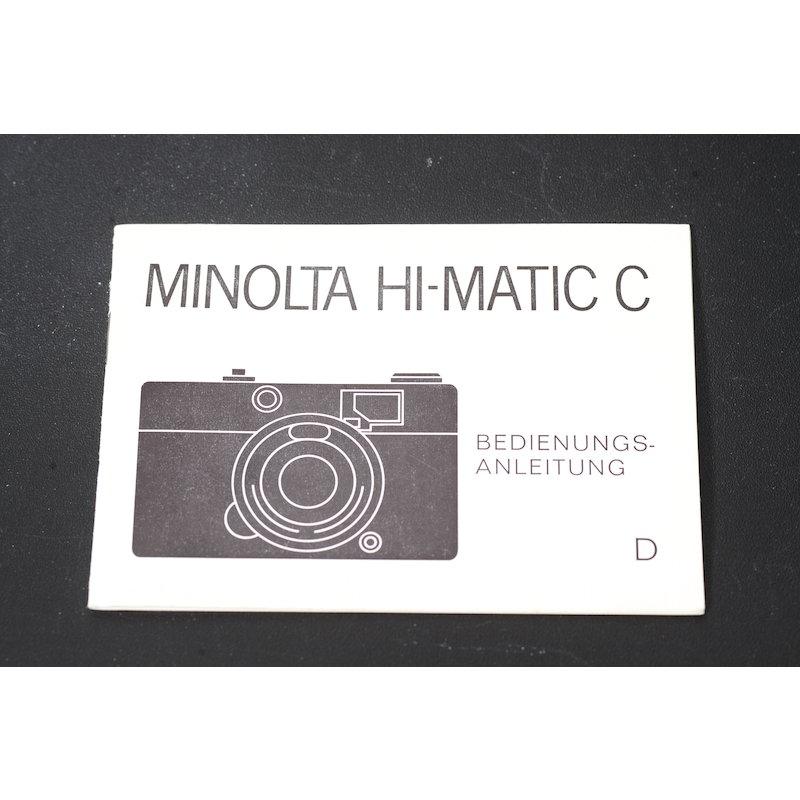 Minolta Anleitung Hi-Matic C
