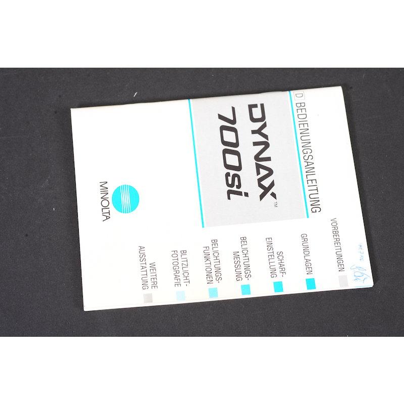 Minolta Anleitung Dynax 700Si