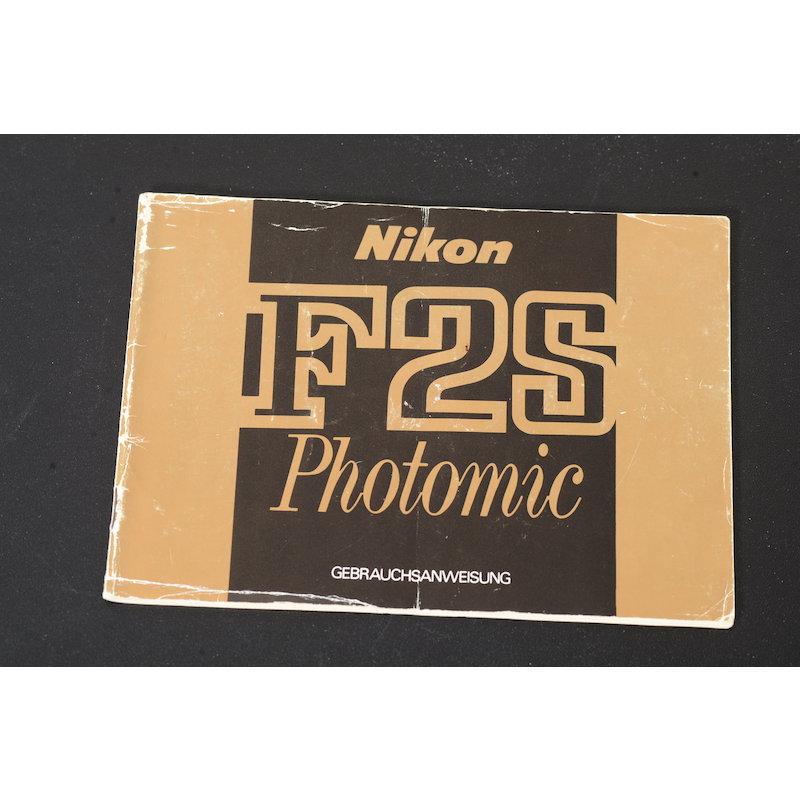 Nikon Anleitung F2S Photomic