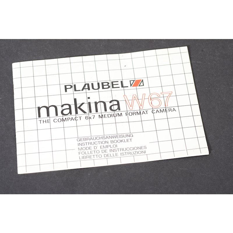 Plaubel Anleitung Makina W67