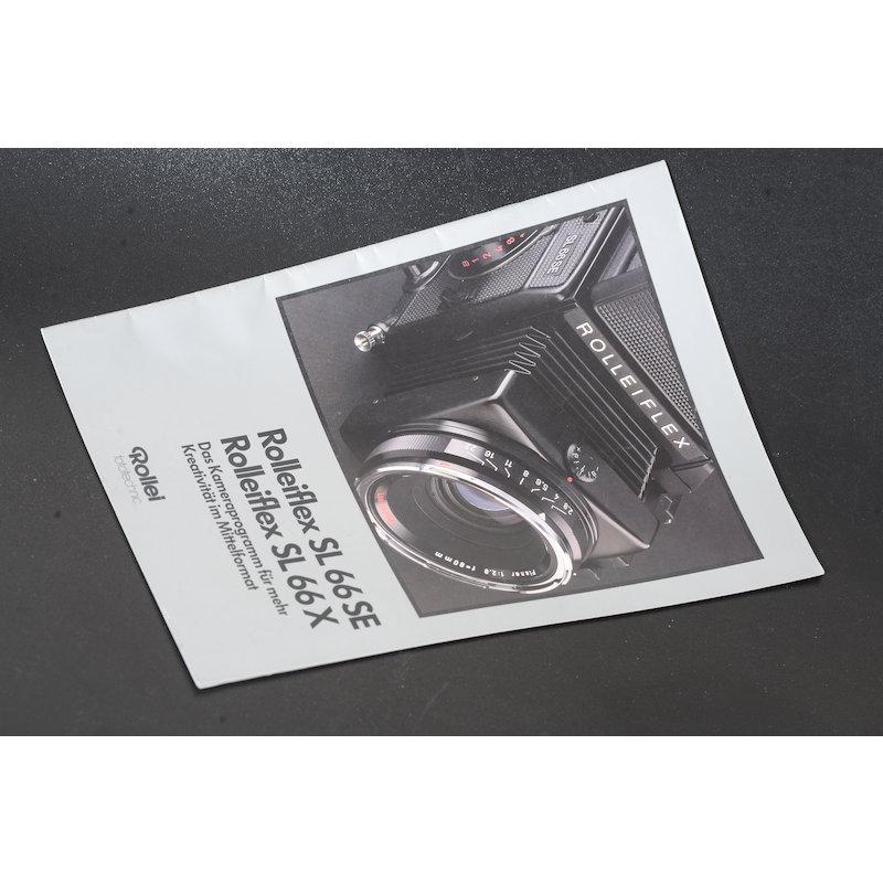 Rollei Prospekt Rolleiflex SL66