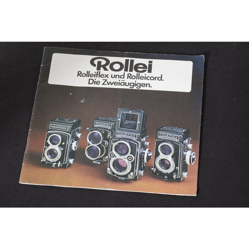 Rollei Prospekt Rolleiflex und Rolleicord Die Zweiäugigen