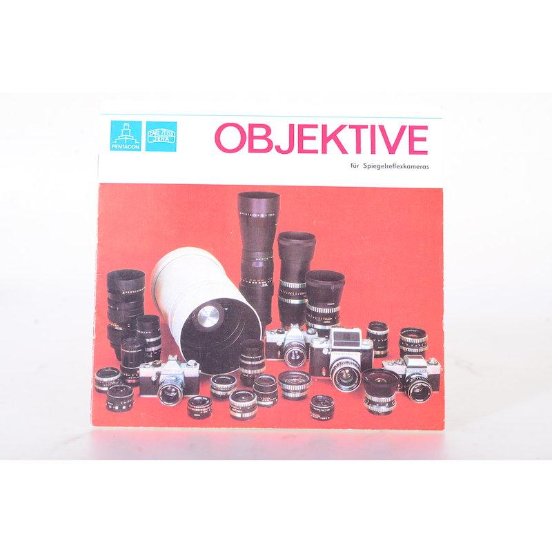 Pentacon Prospekt Objektive für Spiegelreflexkameras
