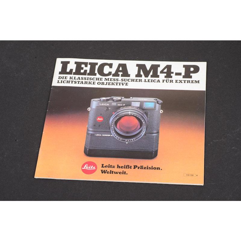 Leitz / Leica M4-P - Prospekt - Die klassische Mess-Sucher-Leica für ...