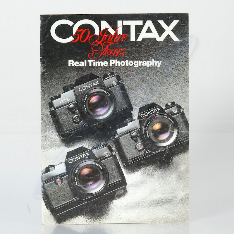 Contax Prospekt Real Time Photography 50 Jahre