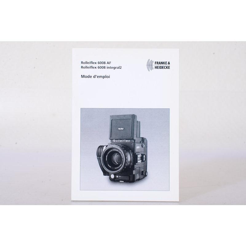 Rollei Anleitung 6008 AF/6008 Integral 2 (Französisch)