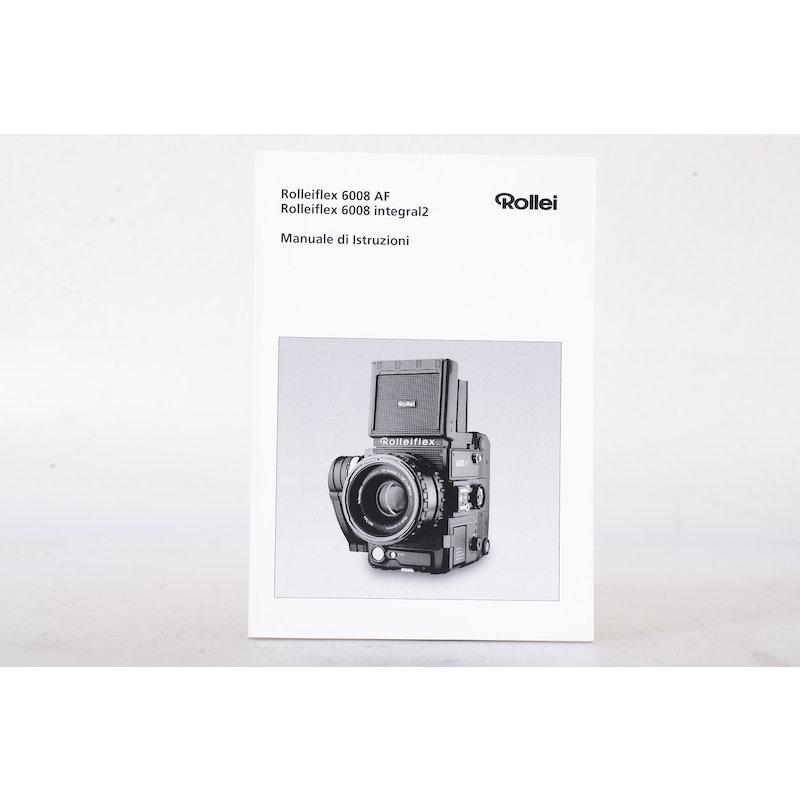 Rollei Anleitung 6008 AF/6008 Integral 2 (Italenisch)
