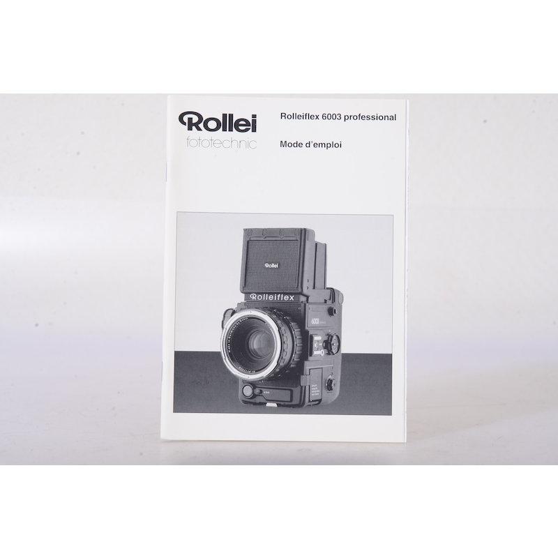 Rollei Anleitung 6003 Professional (Französisch)