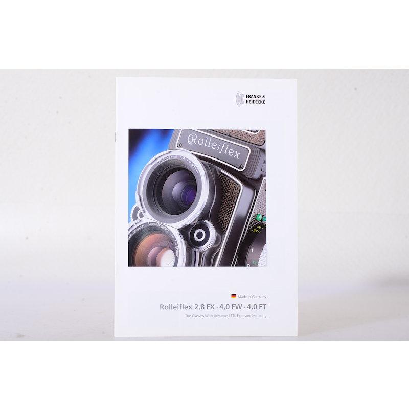 Rollei Prospekt Rolleiflex 2,8 FX/4,0 FW/FT (Englisch)