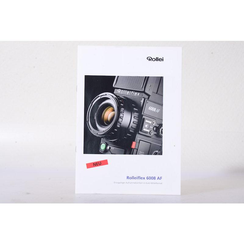 Rollei Prospekt Rolleiflex 6008 AF Neu