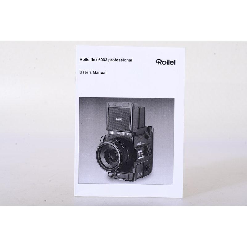 Rollei Anleitung Flex 6003 (Englisch)