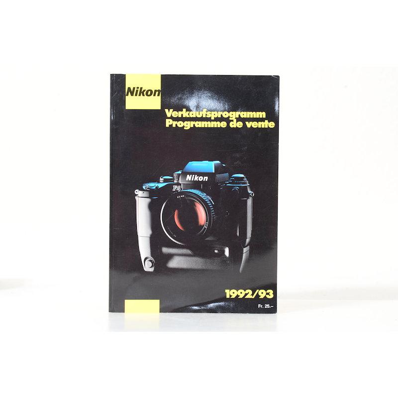 Nikon Verkaufsprogramm 1992/1993