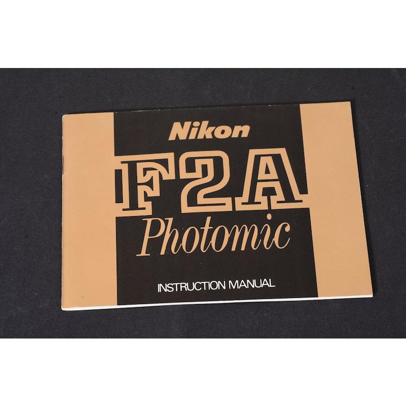Nikon Anleitung F2A Photomic (Englisch)