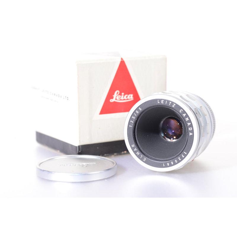 Leica Elmar-M 3,5/65+Einstellschnecke Silber