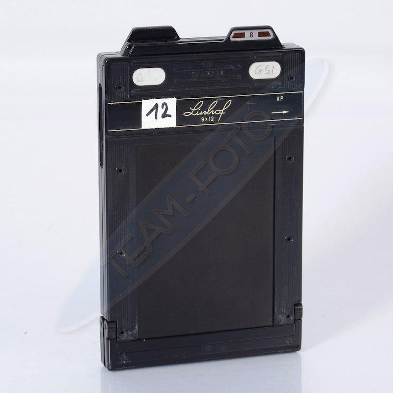 Linhof Doppelplanfilmkassette+Auswerfer 9x12