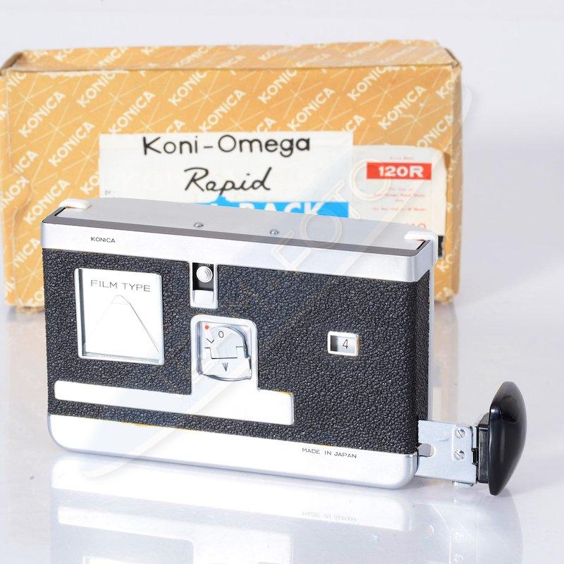 Konica Koni-Omega Rollfilmrückteil Rapid 120R