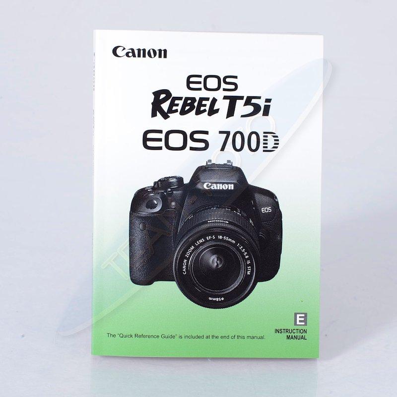 Canon Anleitung EOS 700D (Englisch)