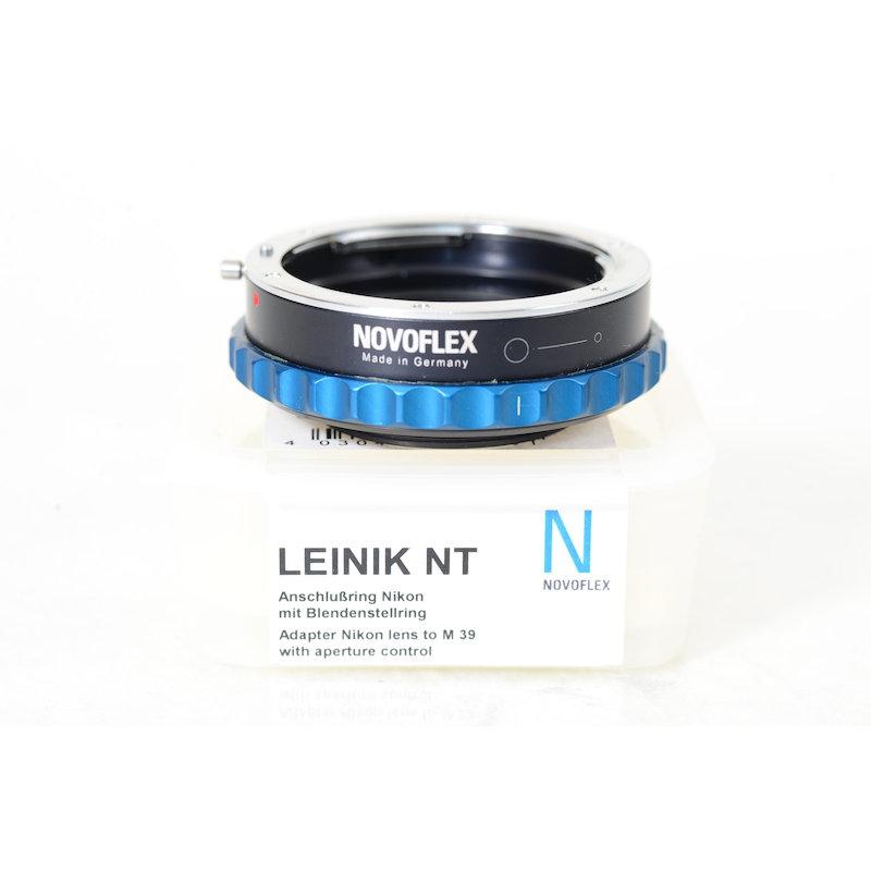 Novoflex Adapterring M39/Nikon mit Blendeneinstellring LEINIK