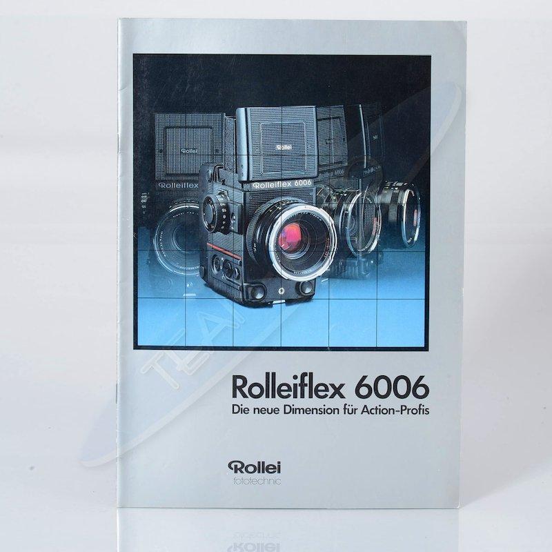 Rollei Prospekt Rolleiflex 6006 Die neue Dimension