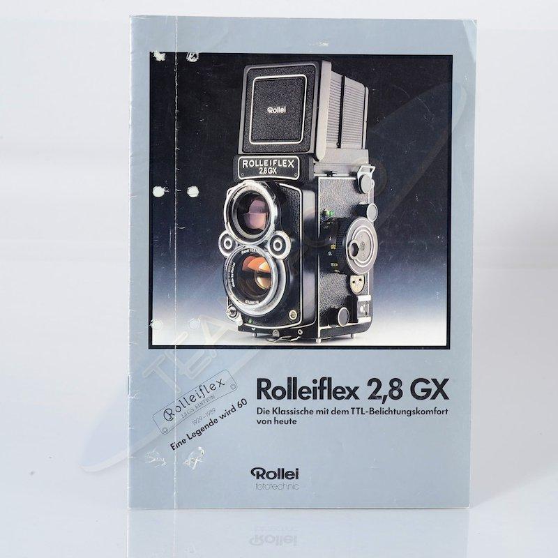 Rollei Prospekt Rolleiflex 2,8 GX