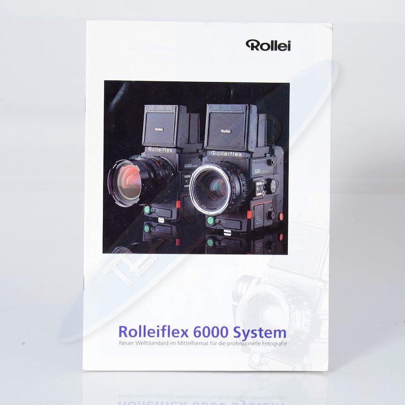 Rollei Prospekt Rolleiflex 6000 System Neuer Weltstandard