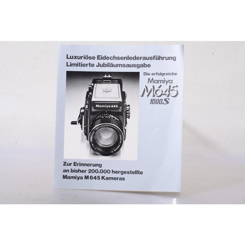 Mamiya Faltblatt M645 1000S Limited