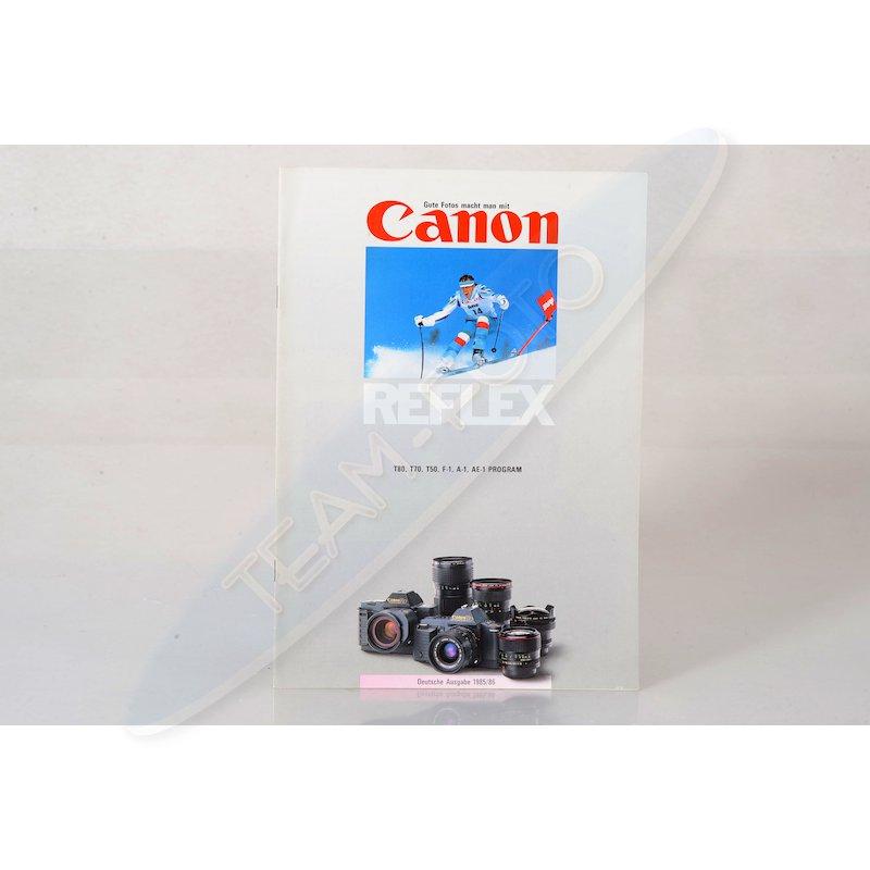 Canon Prospekt Reflex 1985/1986