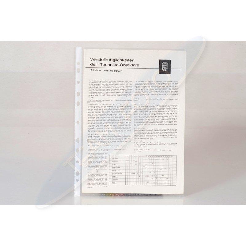 Linhof Infoblatt Verstellmöglichkeiten der Technika-Objek