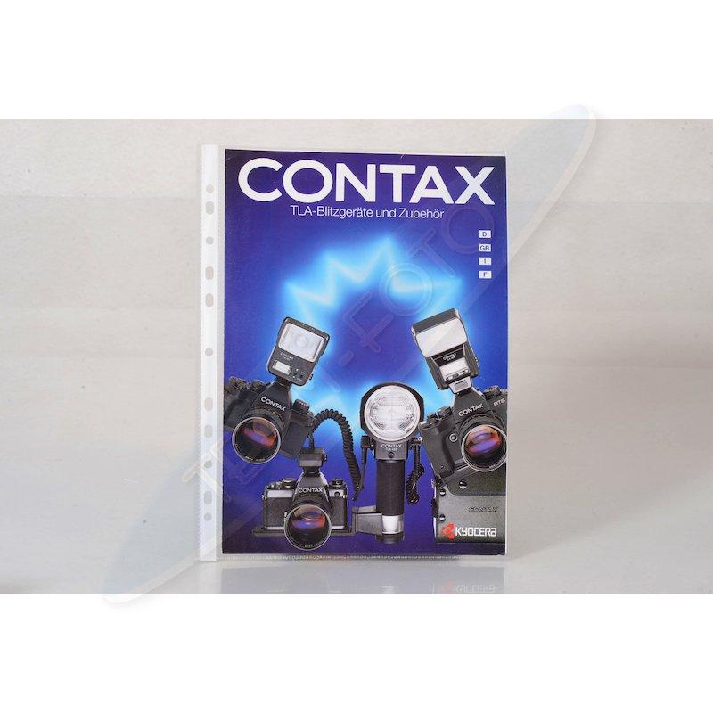 Contax Prospekt TLA-Blitzgeräte und Zubehör