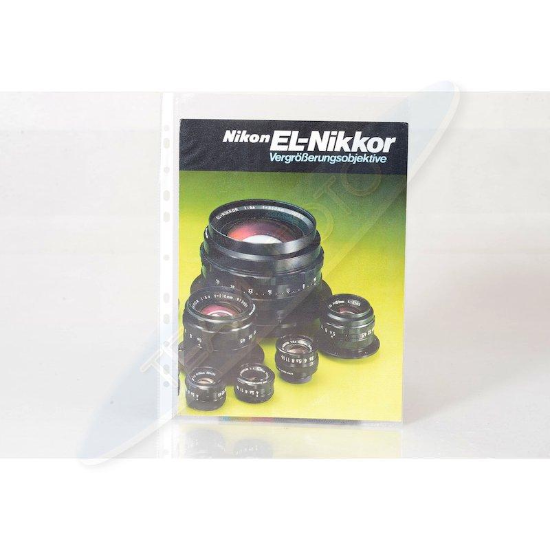Nikon Prospekt EL-Nikkor Vergrößerungsobjektive
