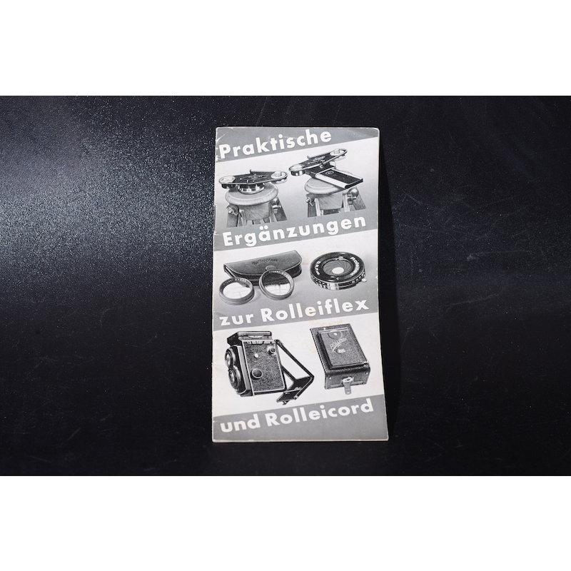 Rollei Prospekt Praktische Ergänzungen zur Rolleiflex und Rolleicord
