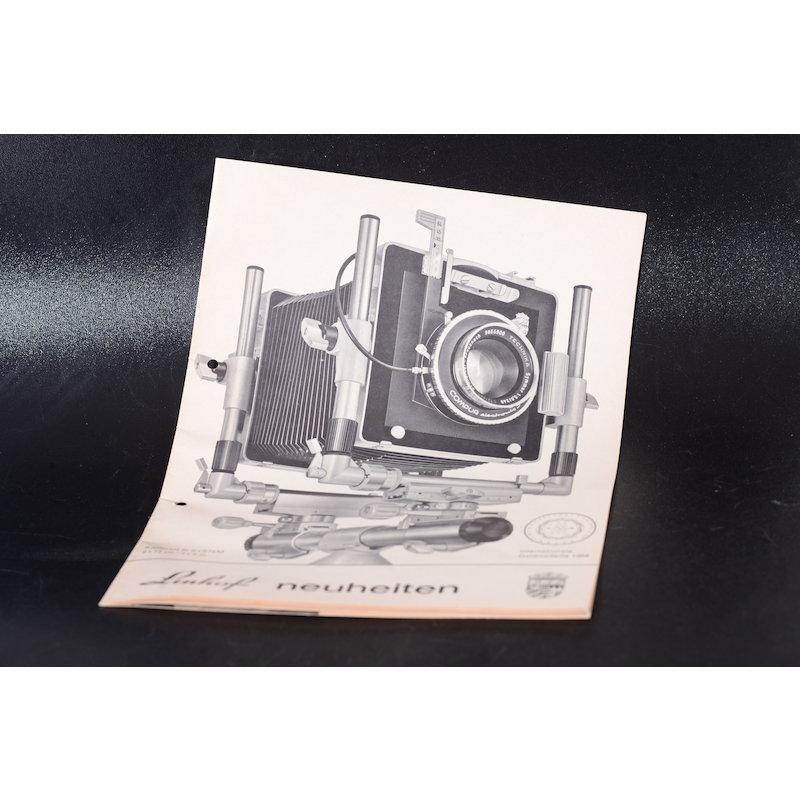 Linhof Prospekt Neuheiten 1968