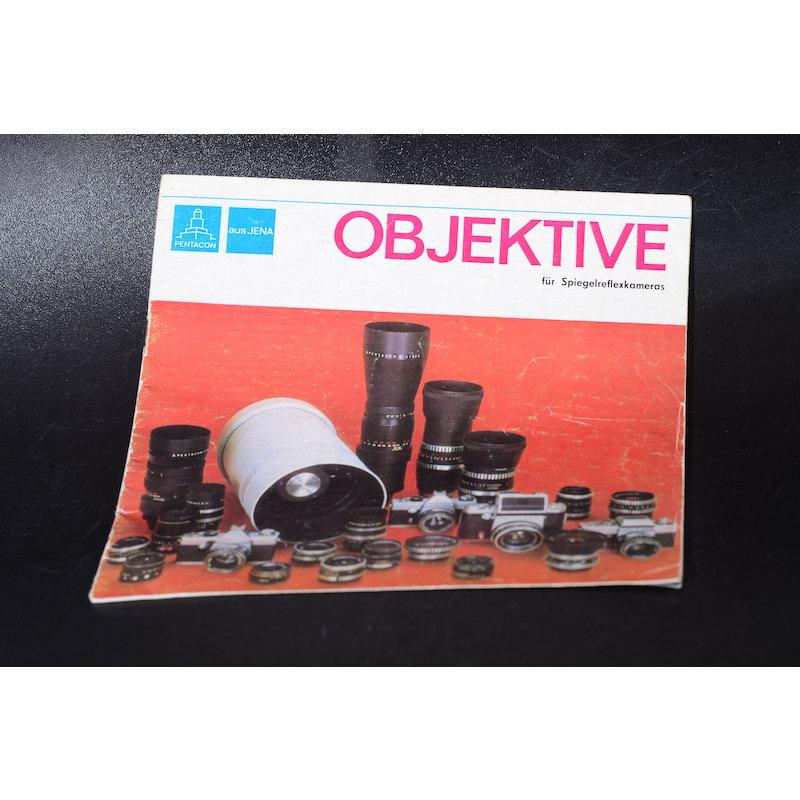 Pentacon Prospekt Objektive für Spiegelreflexkameras 1973