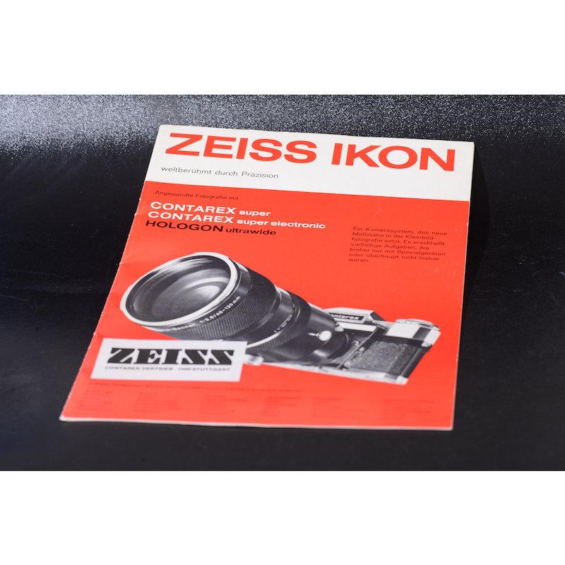 Zeiss-Ikon Prospekt Contarex Super/Super Electronic/Hologon U