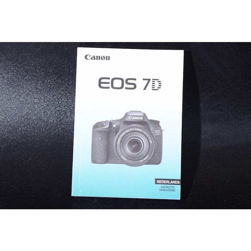Canon Anleitung EOS 7D (Niederländisch)
