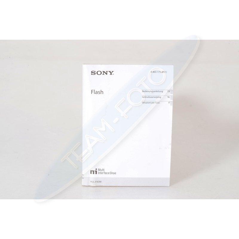Sony Anleitung Programm Blitz HVL-F43M