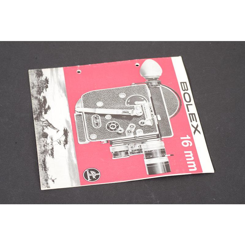 Bolex Prospekt 16mm 1966