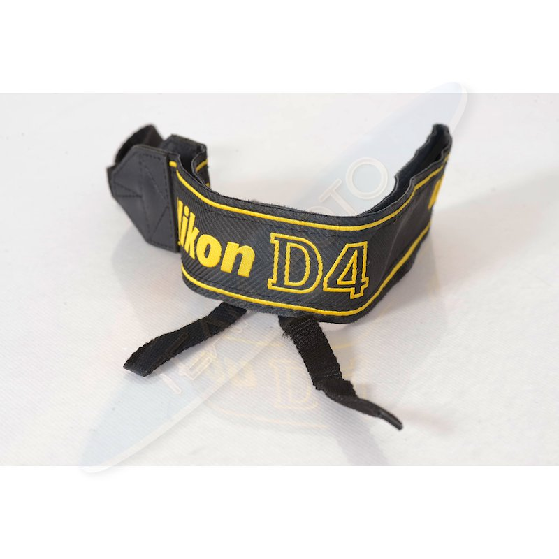Nikon Trageriemen Gelb-Schwarz D4