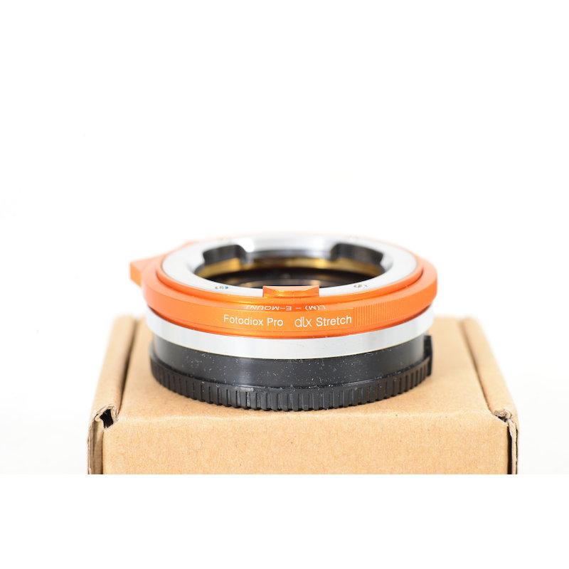 Fotodiox Leica-M DLX Objektivadapter Sony Nex mit Back-Focus und Makro Einstelleigenschaften
