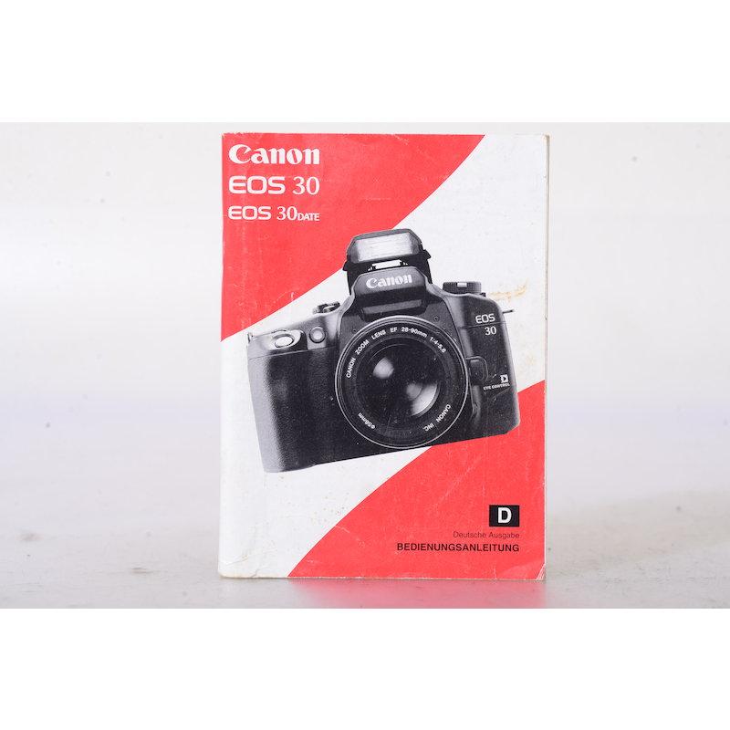 Canon Anleitung EOS 30/30 Data
