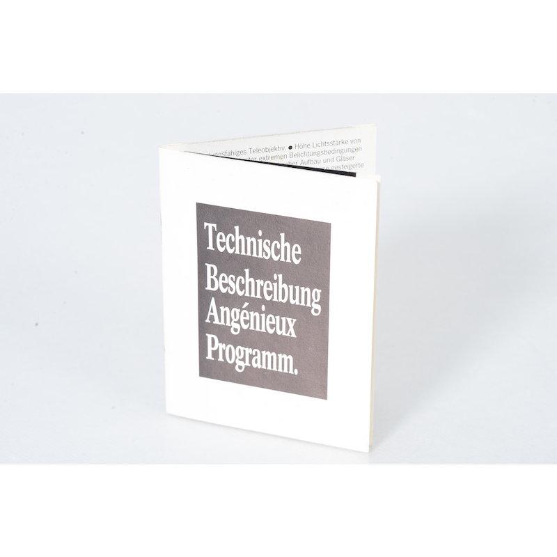 Angenieux Technische Beschreibung Angenieux Programm