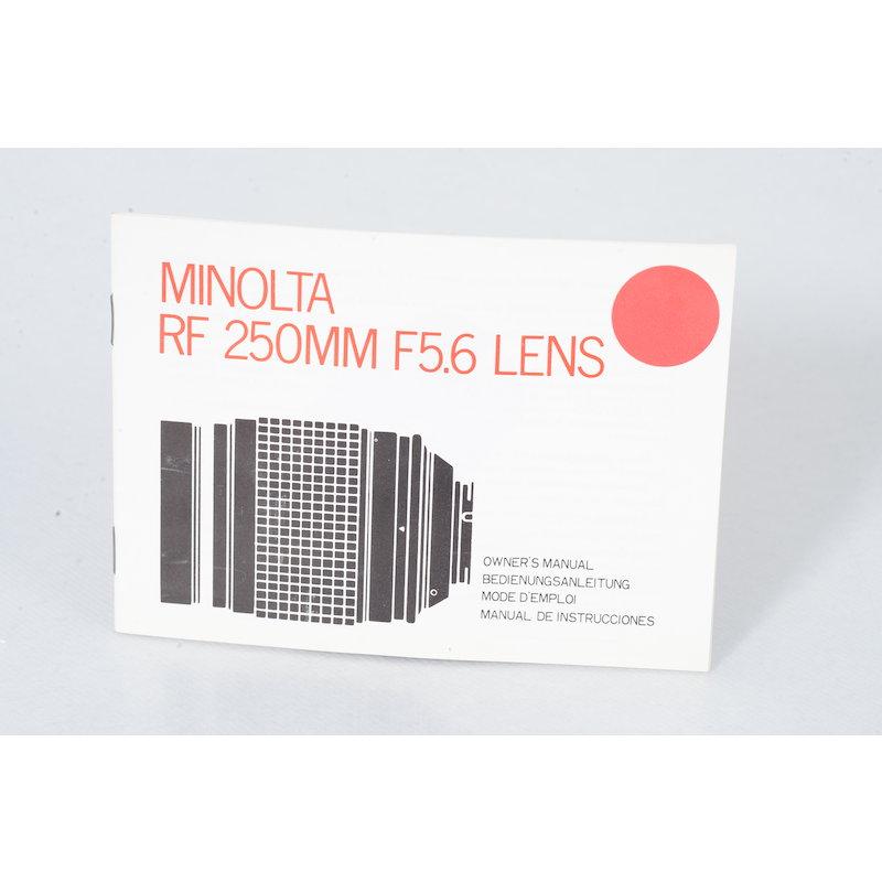 Minolta Anleitung RF 5,6/250