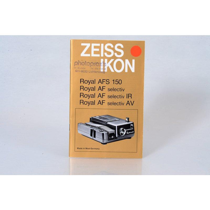 Zeiss-Ikon Anleitung Royal AFS/AF Selectiv