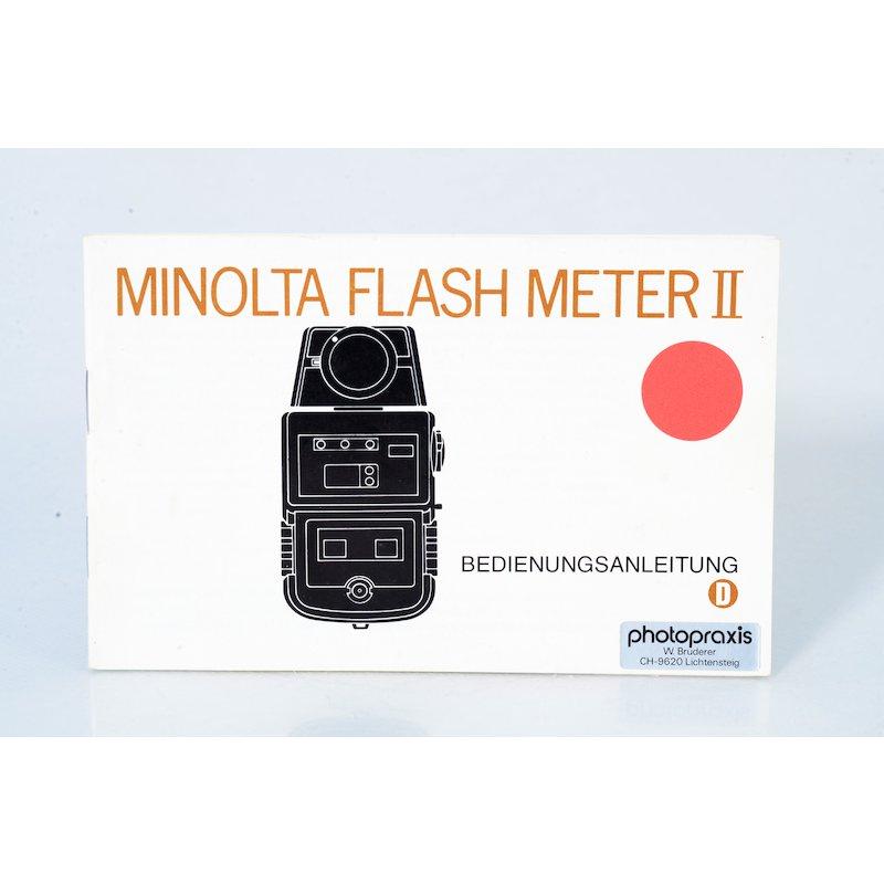 Minolta Anleitung Flash Meter II
