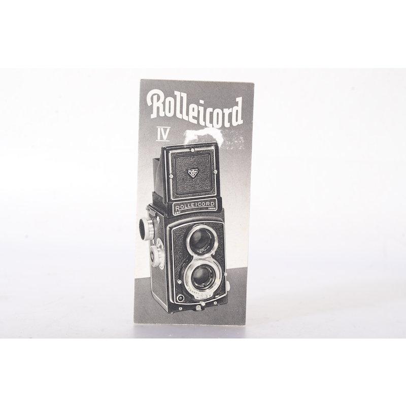 Rollei Prospekt Rolleicord IV