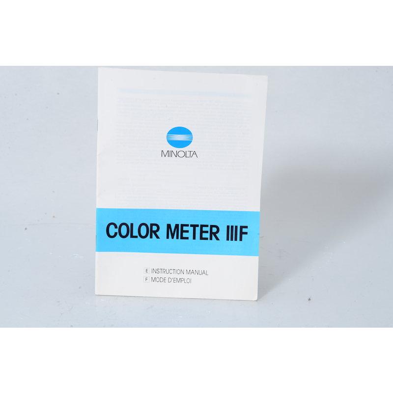 Minolta Anleitung Color Meter IIIF (Englisch)