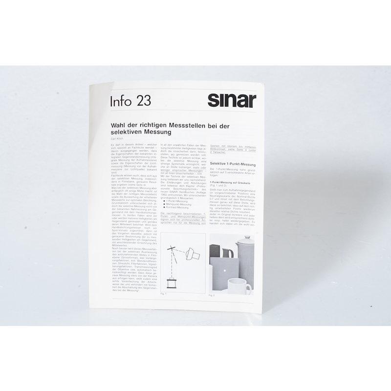 Sinar Info 23 Wahl der richtigen Messtellen