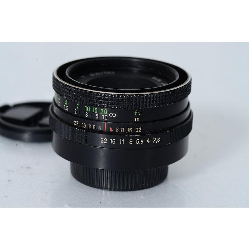 Zeiss-Jena Tessar 2,8/50 M42 Black