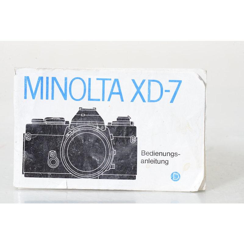 Minolta Anleitung XD7
