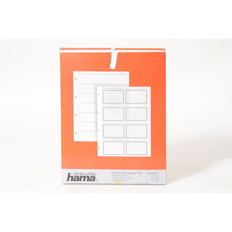 Hama Negativ-Ablagehüllen Pergamin 35mm/Fächer 100 Blat